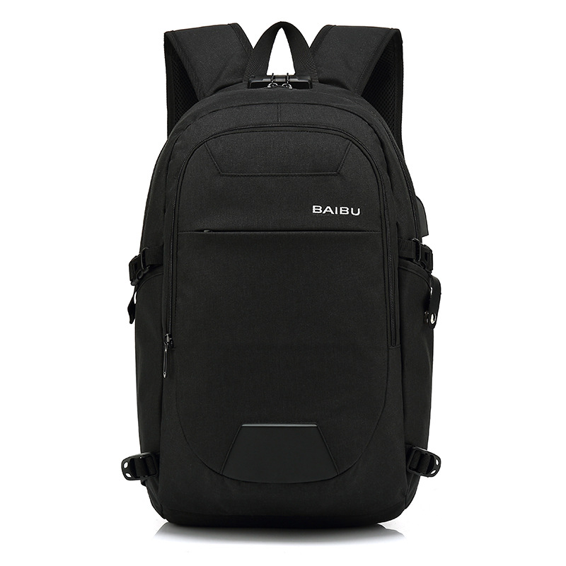 2018 Fashion Men's Backpack USB Charge 15inch Laptop Backpacks Casual Business computer Bag Male Travel Backpack For School Bags 17inch laptop backpack notebook hand bags men s computer bag laptop bag travel nylon backpacks business bag cf1718