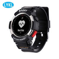 Men's smart watch F6 smart watch with Bluetooth 4.0IP68 waterproof GPS heart rate monitoring pedometer for Android IOS