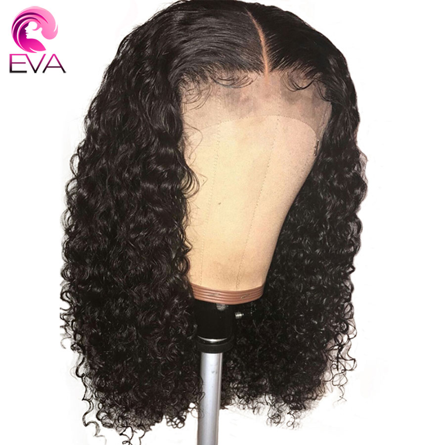 Eva Fake Scalp 13x6 Lace Front Human Hair Wigs Pre Plucked With Baby Hair Brazilian Remy Water Wave Hair Wigs For Black Women
