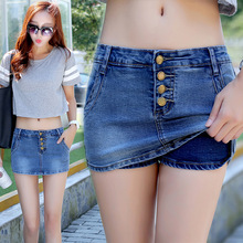 2019 New Summer Women Shorts Denim Jeans Blue Washed Mini Sexy High Waisted Pants