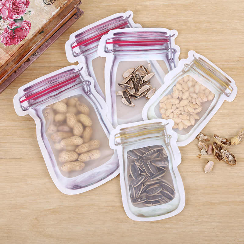 New Fashion Creativity Travel Food Bags Ziplock Bags Cookies Snacks Child Snacks Storage