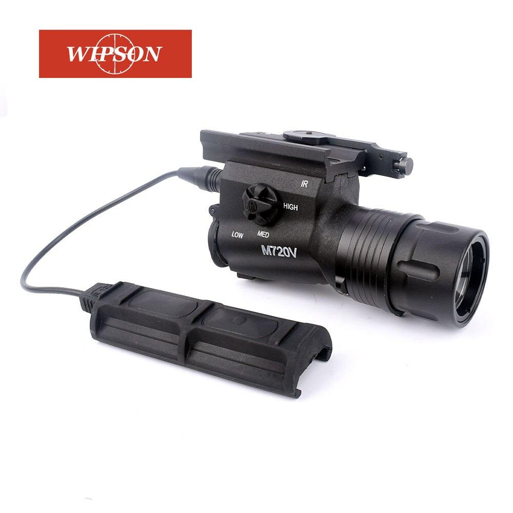 WIPSON Tactical M720V LED Flashlight CREE R5 400 Lumen Airsoft Gun Flashlight STROBE VERSION 5 pcs dual usb 3 0 type a 18 pin female right angle socket connector