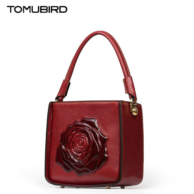 TOMUBIRD 2017 new superior leather designer famous brand women bags fashion box type bag genuine leather handbags shoulder bag tomubird new original hand embossed superior leather designer bag famous brand women bags genuine leather handbags shoulder
