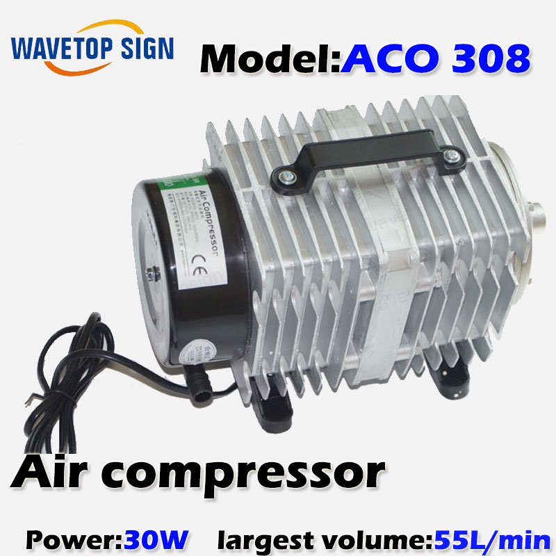 Air Compressor air pump 30w    ACO308  0.025Mpa 55L/Min  30W 220v/50HZ 8 l min electric diaphragm 12v dc mini air pump brush