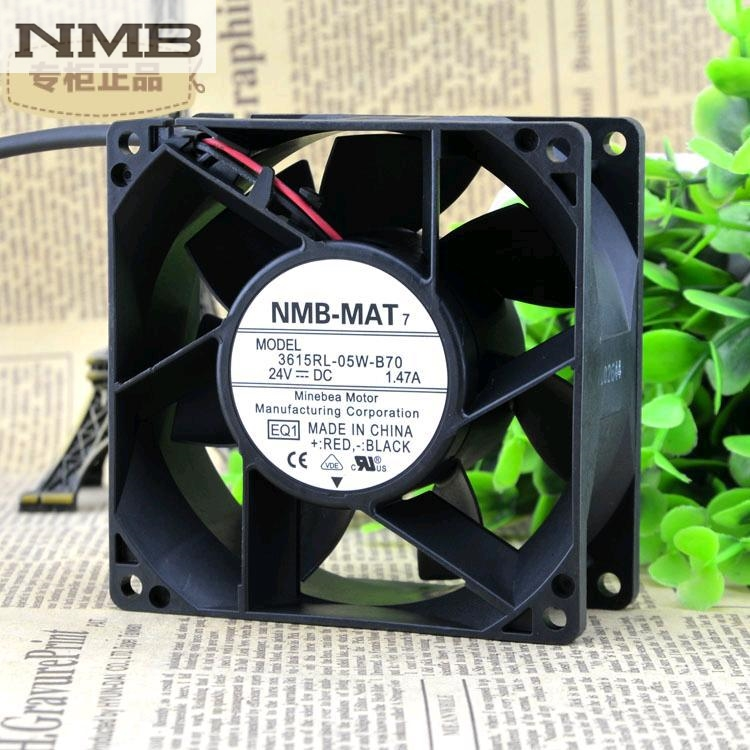 NMB 3615RL-05W-B70 -E00 DC Brushless fan 24VDC 1.47A 92X38.4MM 90mm 9cm 7200RPM genuine spare parts abb acs800 90 90 38mm 24v 0 32a 2 line waterproof fan pq1 3615 kl 05w b50