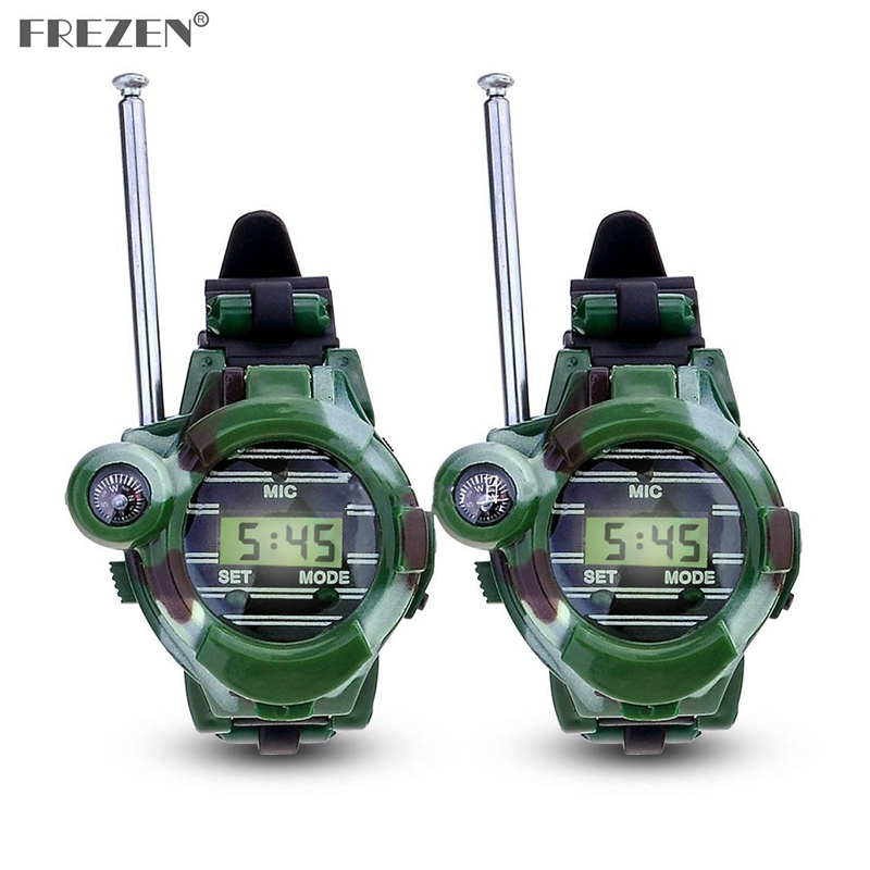 1 Pair LCD Radio 150M Watches Walkie Talkie 7 In 1 Children Watch Radio Outdoor Interphone Toy  Camouflage