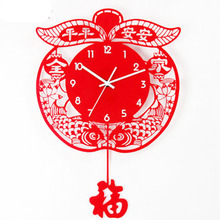decoration dies Decorative Wall clock New classical creative acrylic wall clock watch Chinese living room swing mute machine qua