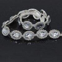 100 ярдов свадебные украшения из кристаллов Стразы для шитья аппликация для ремни свадебного платья Аксессуары для головных уборов