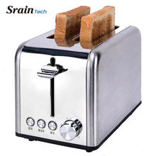 Sraintech Toaster Household Bread Baking Machine Kitchen Appliance Toaster For Breakfast Defrost Function Reheat Function deer king jewelry wholesale s925 antique sterling silver pendant brooch dual use natural lapis inlay technique