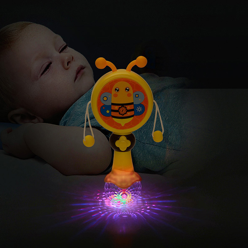 yuanlebao Bee Caterpillar Dragonfly Baby Toys Sound&Light Musical Hand Grasping Training Attract Rattles juguetes bebe brinquedo