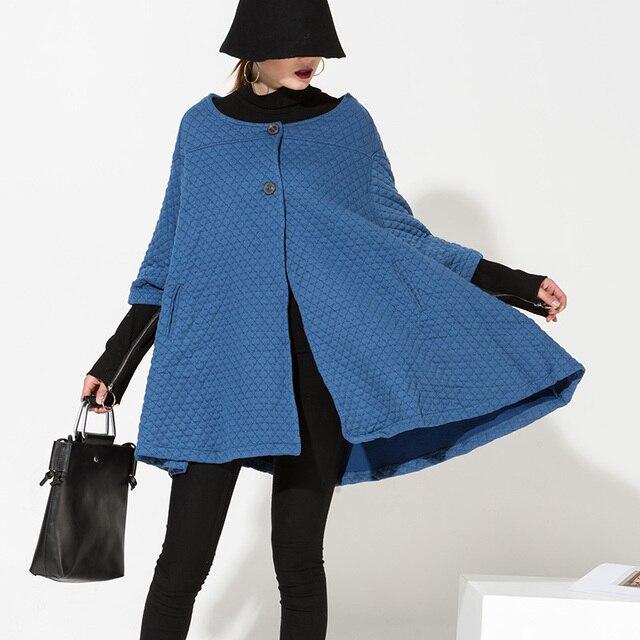 [Soonyour] 2017 Осень новых женских пальто Корейской версии крупных женщин размер рукава летучая мышь кардиган куртку ветровку EV636