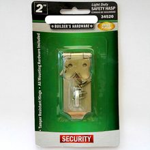 2'' light duty safety hasp door padlock latch brass palted metal hasp used in home door and window(China)
