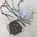 2016 Симпатичные мода повседневная звезда луна украшения ведро мешок женщин сумки на ремне сумки crossbody сумка мешок партии