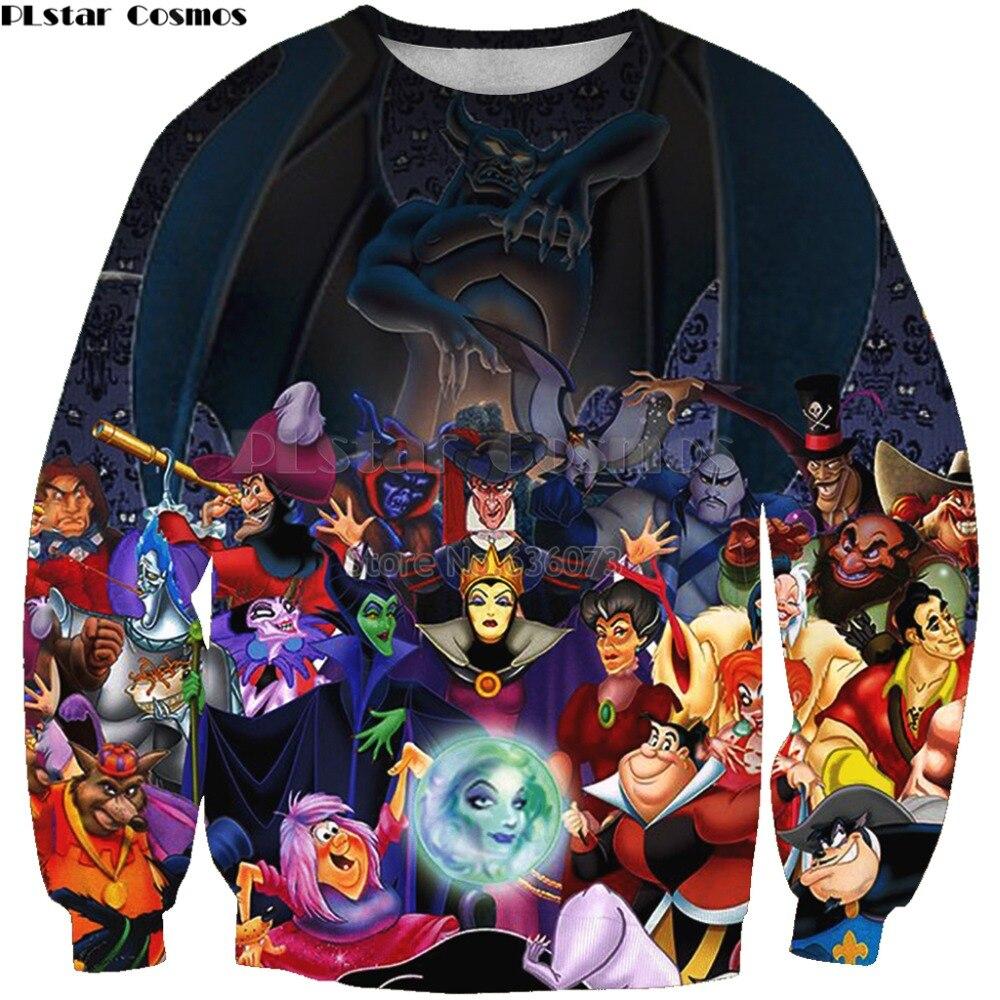 PLstar Cosmos 2019 New Fashion Men / Women 3d Sweatshirt Cartoon Character Collage Print Unisex Casual O-Neck Sweatshirts