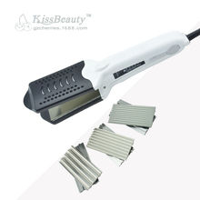 Interchangeable 4 in 1 Hair Waver Straightener Nano Titanium Flat Iron Chapinha Professional Hair Crimper Corrugated Iron