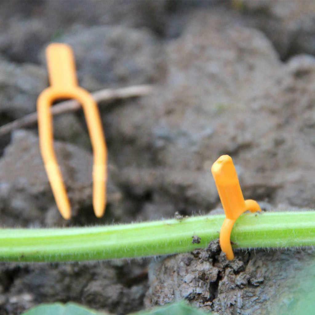 ISHOWTIENDA 2019 עגבניות Veggie גן צמח תמיכה קליפים לסבכה חוט חממה כלי 50pcs מכירה לוהטת