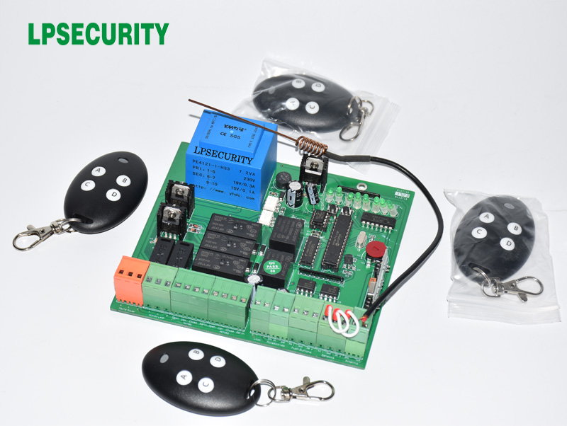 cổng trộm nedap fl 30 pcc - LPSECURITY Swing Gate Control Board of Automatic Double arms swing gate opener PCB panel  motor voltage 220V AC