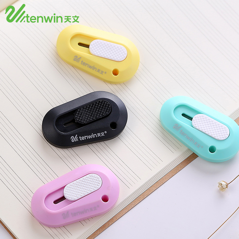 2 Pcs/lot Cute Mini Paper Cutter Box Cutters Kawaii Plastic Stationery Knife DIY Utility Knife For Kids Office School Supplies