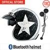Bluetooth Motorcycle Vespa Helmet Vintage Open Face 3 4 Helmet Inner Visor Motocross Jet Retro Capacete