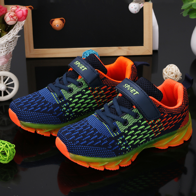 Homass Mesh Breathable Running Shoes Kids Sneakers Boys Girls Toddlers Anti-skid Children Outdoor School Footwear Soft Shoes