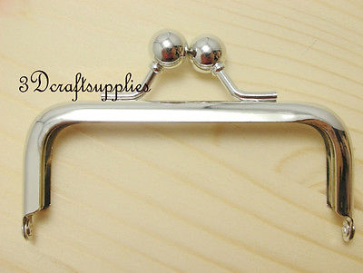 metal purse frame glue on clasp clip silver 3 1/2 inch X 1 1/2 inch B44 metal purse frame glue on clasp clip silver 3 1 2 inch x 1 1 2 inch b44