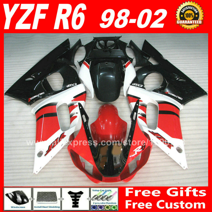 OEM replace Fairings kit for 1998 - 2002 YAMAHA YZF R6 plastic parts  1999 2000 2001 98 99 00 01 02 fairing kits Z3CG for vw golf 5 6 mk5 mk6 fuel brake foot rest mt pedals
