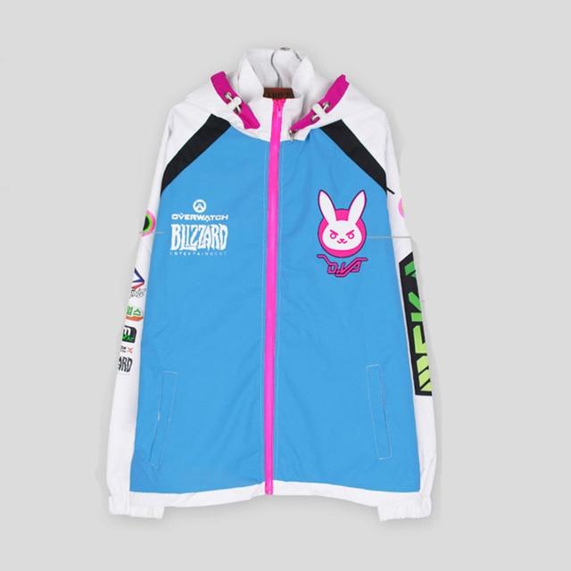 2017 Cosplay Costume Fashion Pattern D VA Coat D VA Sweatshirt women Sport coat Windproof Pizex
