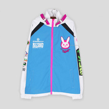 2017 Cosplay Costume Fashion Pattern D.VA Coat D VA Sweatshirt women Sport coat Windproof Pizex Zip Up High Quality Hoodie Coat