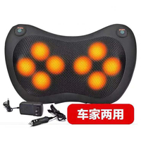 Heated Rollers Shiatsu Back Neck Massager Deep Tissue Kneading Shoulder Back Foot Electric Massage Pillow for DadMom Friends