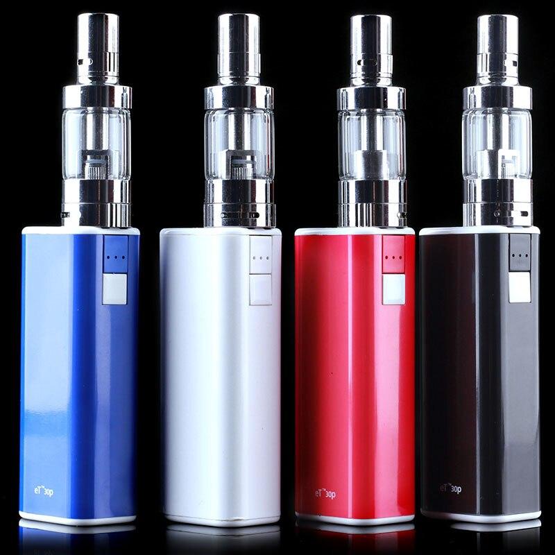10pcs lot New Mechanical Box Mod et30p kit 30W E cig vaporizer mini fog kit airflow