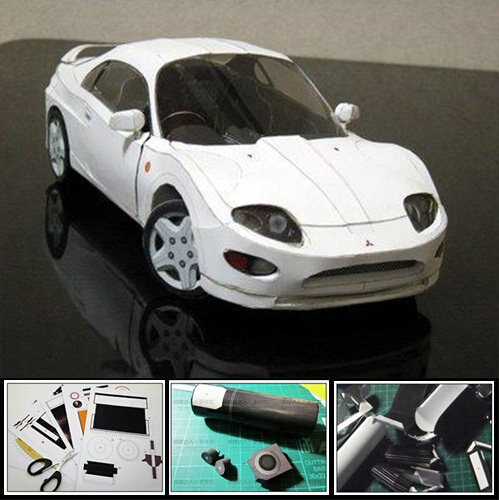 FTO Sports Car 3D Paper Model DIY Origami Art Handmade Toy