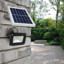 Solar light Outdoor 10W  Waterproof LED solar floodlight with 5M wire+2200mA Battery for LED Outdoor Garden Lamp luces solares