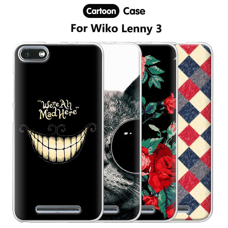 JURCHEN Phone Case For Wiko Lenny 3 Case Lenny3 Soft TPU Back Cover For Coque Wiko Lenny 3 Case Silicone Cartoon Back Bags 5.0