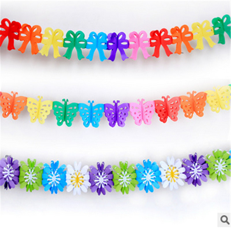 1pcs 3m Creative colorful wedding garland ribbons decorated marriage room birthd