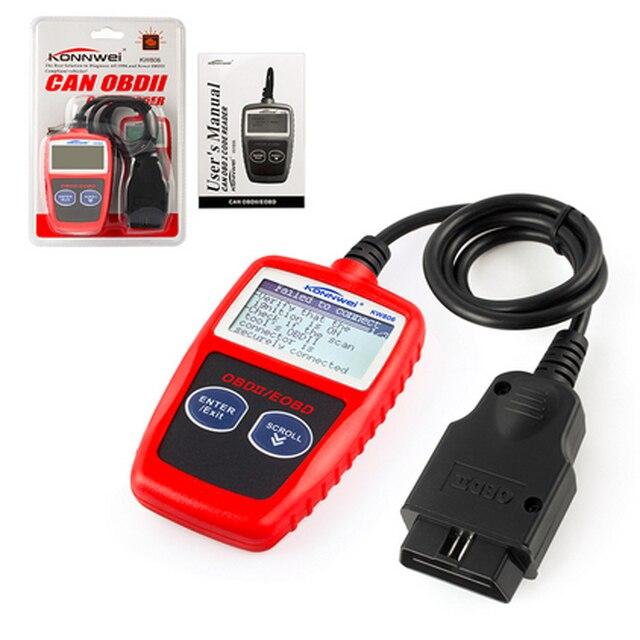 NEW!KONNWEI KW806 Universal Car OBDII Can Scanner Error Code Reader Scan Tool OBD 2 BUS OBD2 Diagnosis Scaner PK AD310 ELM327 V1