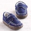 Meninos da criança Do Bebê da Marinha De Algodão Oxford Mocassins Caminhantes Primeiro Sapatos de bebe Menino Garcon Chausurre Recém-nascidos Sapatos Infantis