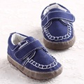 Toddler Baby boys Navy Oxford Cotton Moccasins First Walkers Sapatos de bebe Menino Garcon Chausurre Newborn Infant  Shoes