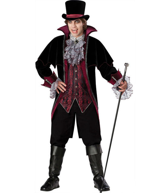 2014 New Adult Mens Halloween Party Dracula V&ire Costumes Outfit Fancy Devil Cosplay Dresses With Hat  sc 1 st  AliExpress.com & 2014 New Adult Mens Halloween Party Dracula Vampire Costumes Outfit ...