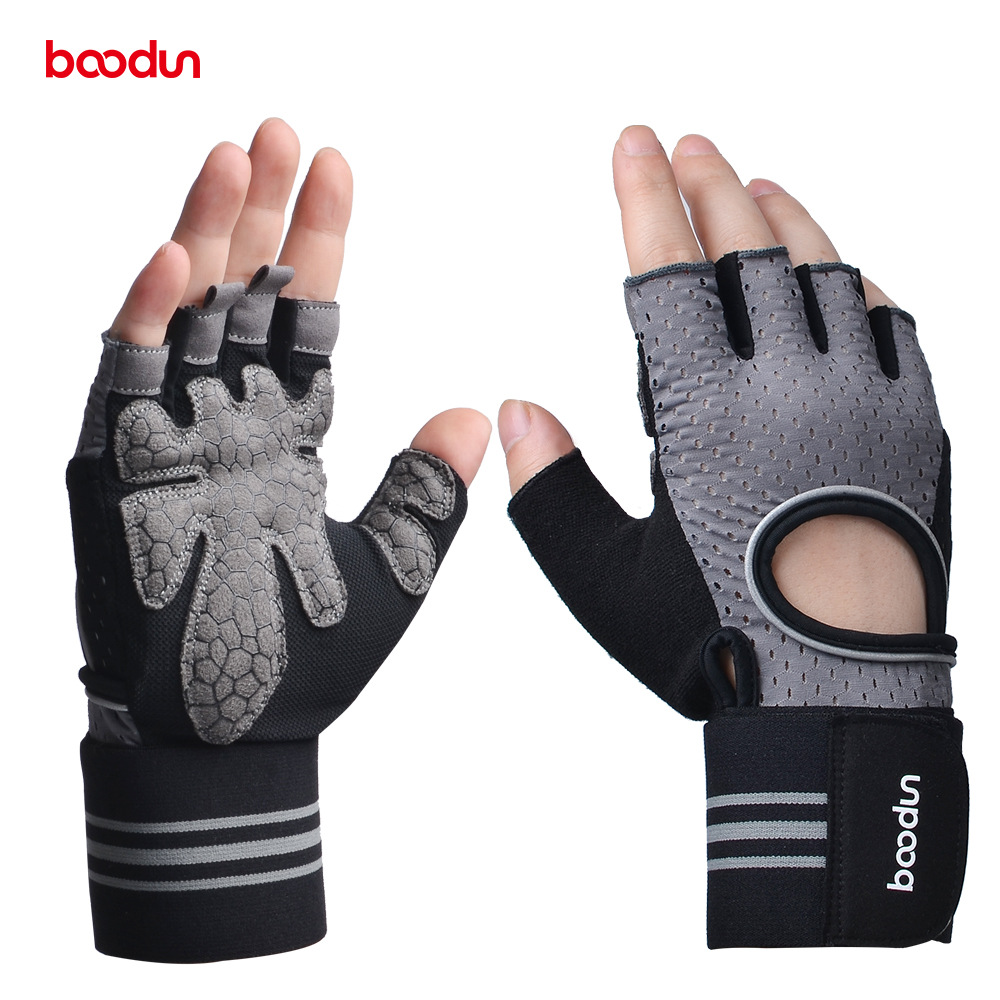 BOODUN Men Women s Gym Gloves Dumbbell Workout Sports Powerlifting Weightlifting Crossfit Gloves Body Building font