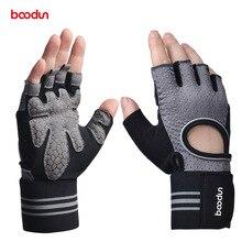 BOODUN Men Women's Gym Gloves Dumbbell Workout Sport Powerlifting Weightlifting Crossfit Gloves Body Building Fitness Equipment