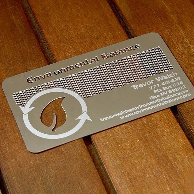 Top Sale Stainless Steel Matt Or Frosted Stainless Steel Metal Business Visiting Card