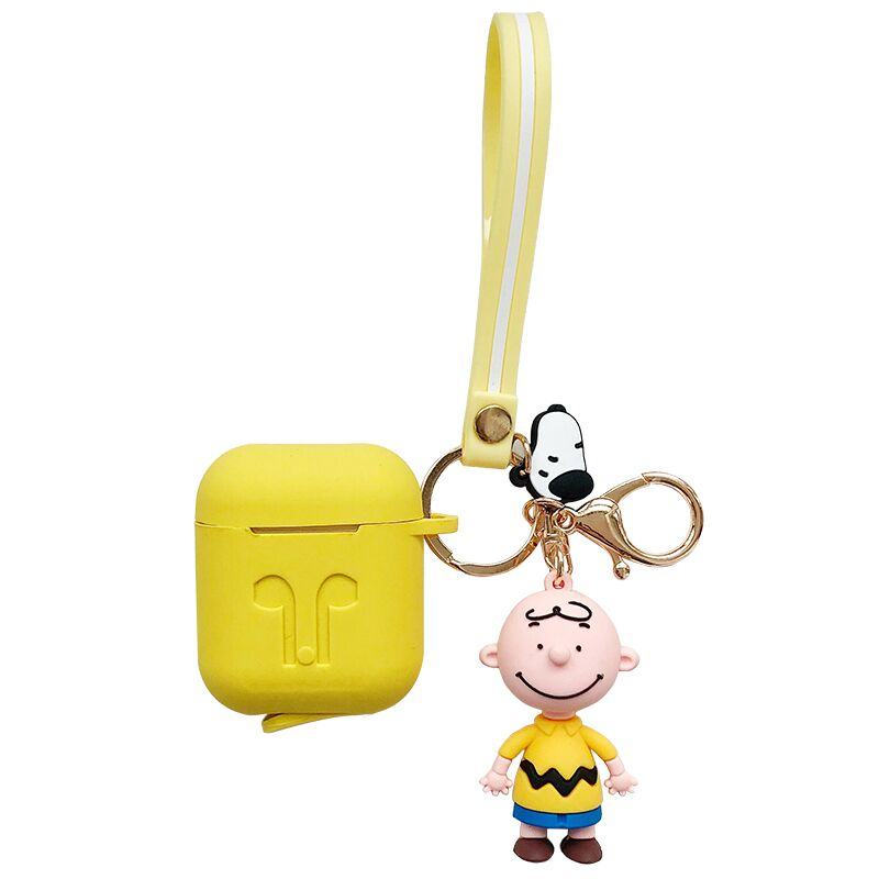 Cute Cartoon Charlie Dog Keychain silicone Wireless Earphone Charging case for AirPods 1 2 Bluetooth For Air pods Accessories in Earphone Accessories from Consumer Electronics