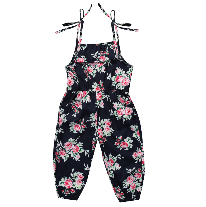 Cute Belt Child Jumpsuit Clothing Girl Summer Outfit Toddler Kids Baby Girls Clothes Sleeveless Romper Flower