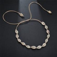 Fashion Sea Shell Choker Necklace Bohemian Seashell Beach Jewelry for Women Girls Wedding Bride Gift