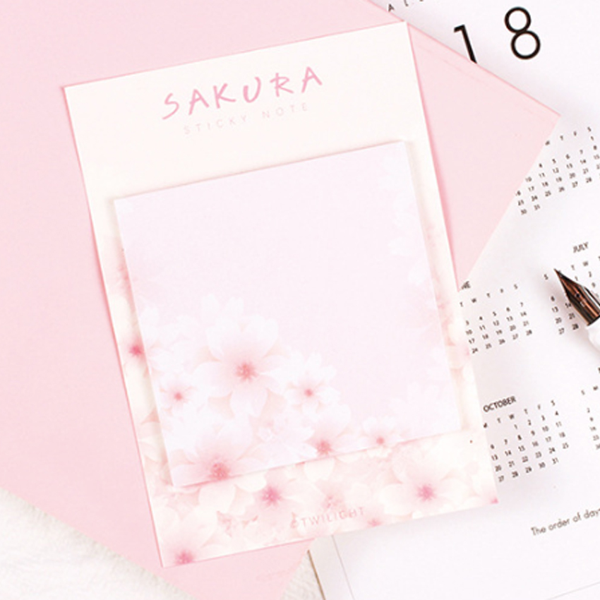 30packs lot Novetly Cherry Blossom Paper Memo Pad Decorative Sticky Note Multi Bookmark Reminder Label Stationery Wholesale in Memo Pads from Office School Supplies