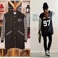 BTS пуленепробиваемый jungkook длинную одежду должны носить бейсбол осень A.R.M.Y бейсбол балахон экзо куртка kpop