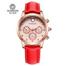 2016 кварцевые часы ochstin часы женщины luxury brand мода женщины наручные часы кожаный ремешок relogio feminino дамы наручные часы