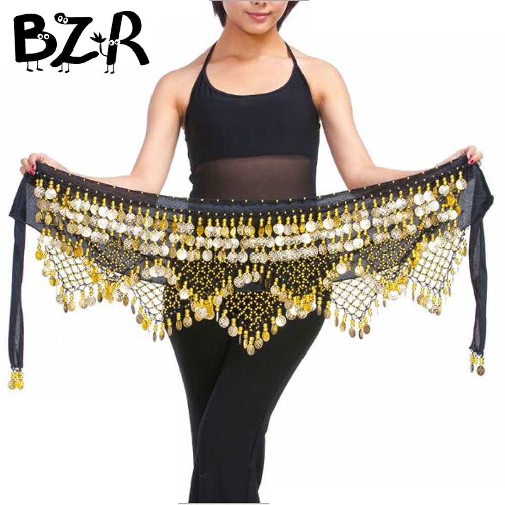 Bazzery New 320 coins belly dance waist chain hip scarf bellydance belt , 9 colors for your choice