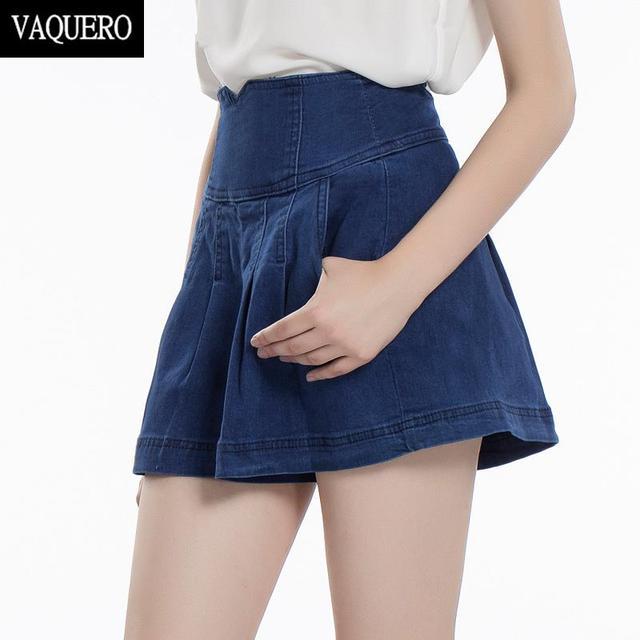 Aliexpress.com : Buy High Waist Denim Shorts Skirts For Women Size ...