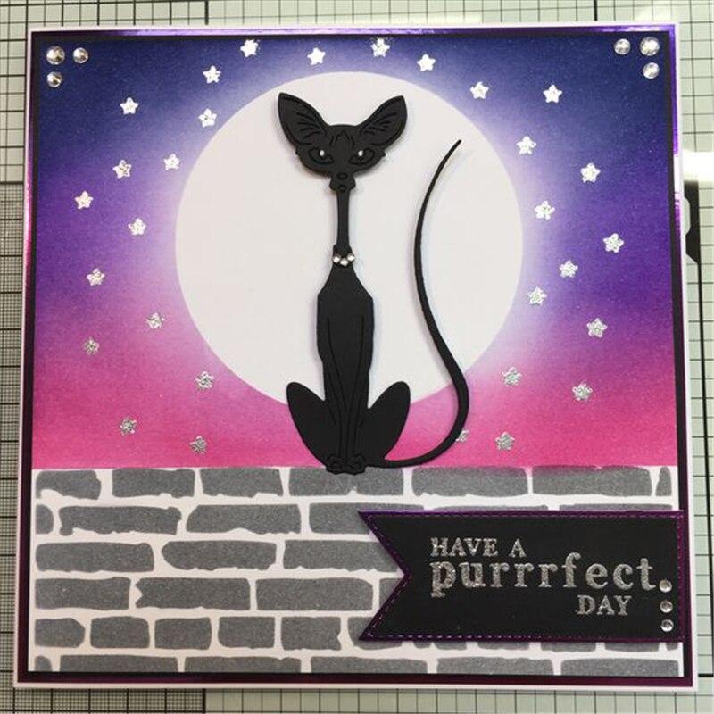 YaMinSanNiO Siamese Cat Dies Metal Cutting Dies New 2019 Scrapbooking Embossing Dies Cut Stencils Cards Craft Dies